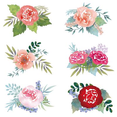綺麗な花のイラスト画像