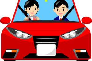 自動車免許の取得を目指している教習生と教官の画像