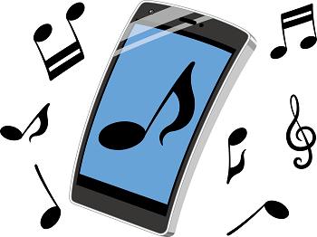 音楽配信サービスをスマホで楽しんでいるイメージ画像