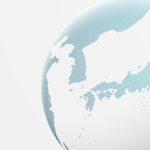 地球の中の日本のイメージ画像