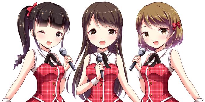 アイドルの歌手3人の画像