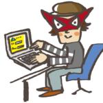 プライバシーをのぞき見するハッカーのイラスト画像
