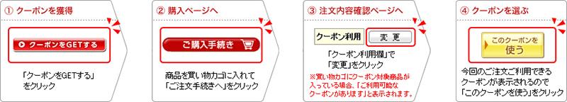 WAVEワンデー700円OFFクーポンの使用手順