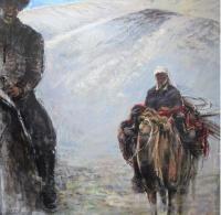 高額絵画キルギスの民1