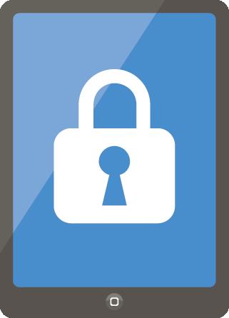2段階認証をすることによってセキュリティレベルが上がったスマホのイメージ画像