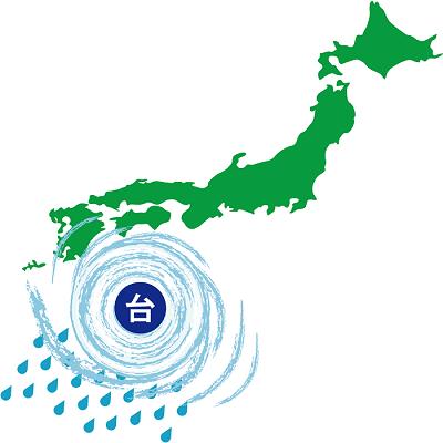 台風の状況がわかる天気図