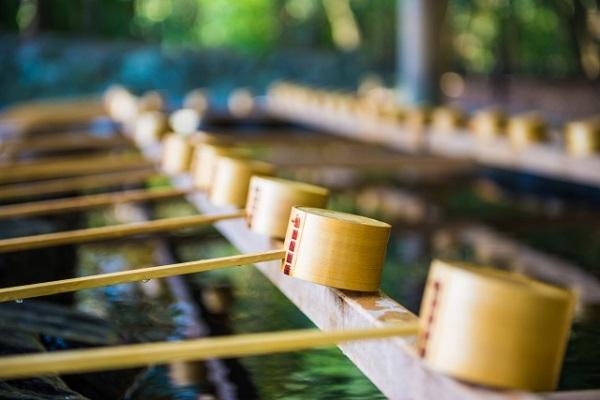 伊勢神宮の手水舎の画像