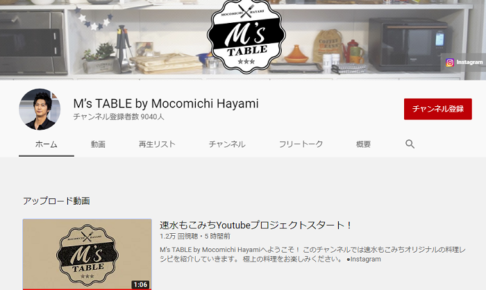M's TABLE by Mocomichi Hayamiの動画画像