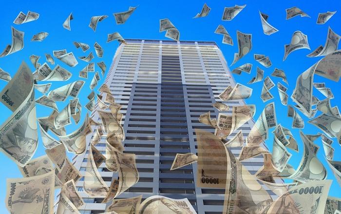エスエムブランドの経営者、松田周が大量のお金をバラまいているイメージ画像