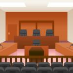 裁判所の法廷の画像