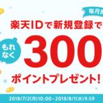 ラクマをダウンロード&登録で楽天ポイント300ポイント+ラクマポイント100円分を無料でゲット!